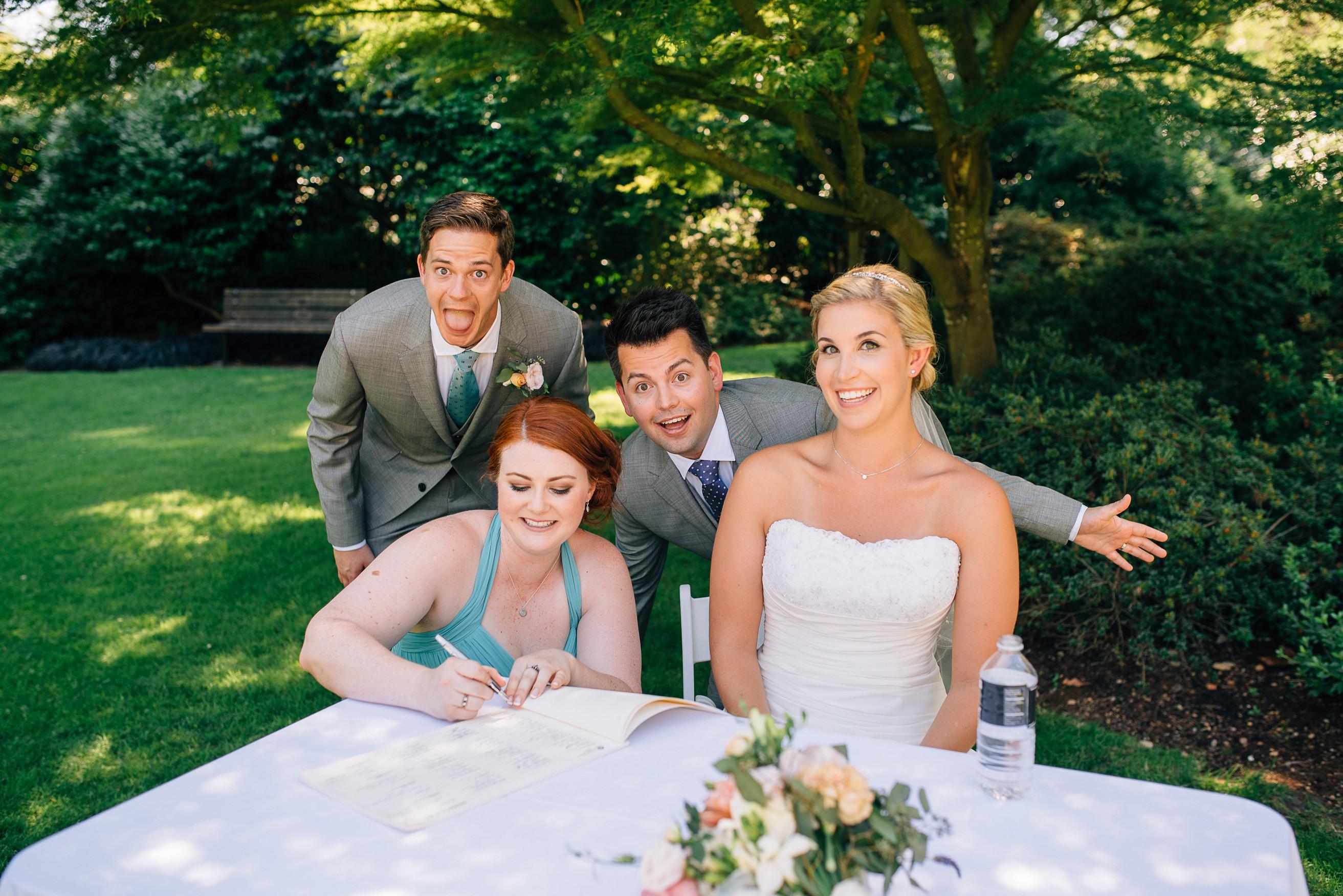 Wedding Party Van Dusen Ceremony
